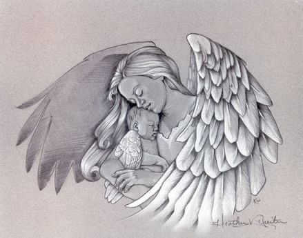 Angel Mother & Baby
